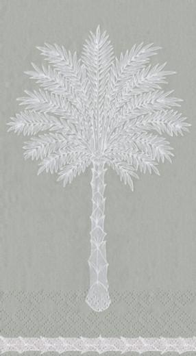 Grand Palms Grey Guest Towel 4.5 x 8 Inch Pk 30