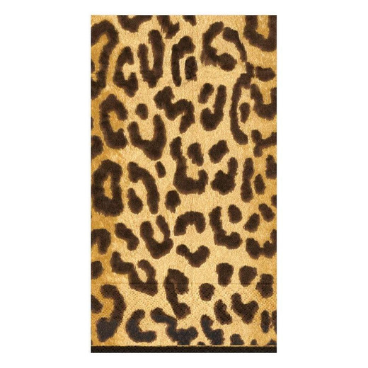 Hand Towels or Paper Guest Towels Leopard Animal Print 30 Count Chic Party Supplies & Decorations