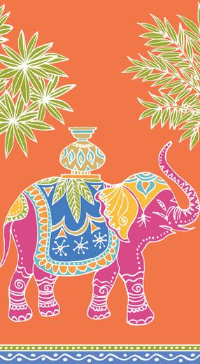 Disposable Hand Towels, Decorative Paper Guest Towels for Bathroom or Paper Napkins Dinner Napkins Safari Jungle Royal Elephant Orange Pak 30