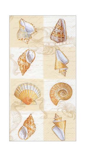Paper Hand Towels for Beach Bathroom Decor Guest Towels Disposable or Paper Napkins Decorative Dinner Napkins Shells Cream Pak 32