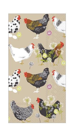 Paper Hand Towels for Farmhouse Bathroom Decor Guest Towels Disposable Paper Napkins Decorative Hens Rustic Wedding Pak 32