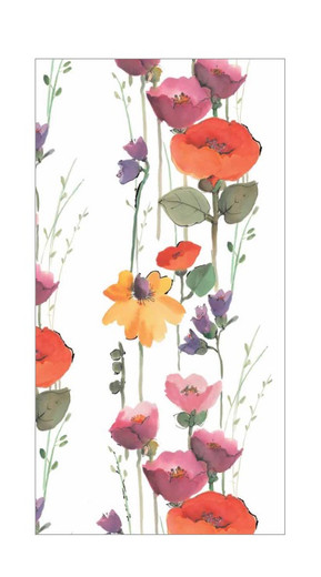 Floral Stripe Paper Hand Towels