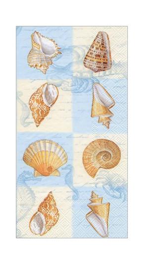 Blue Shells Paper Hand Towels