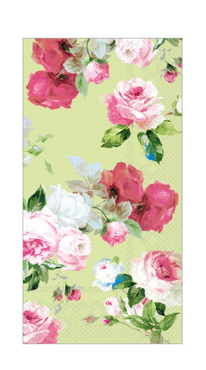 Pink Floral Paper Hand Towels