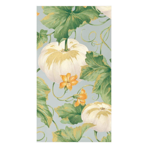 White Pumpkin Fall Paper Hand Towels Pk 30