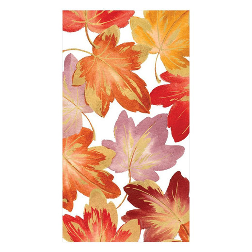 Autumn Décor Leaves Fall Paper Hand Towels Pk 30