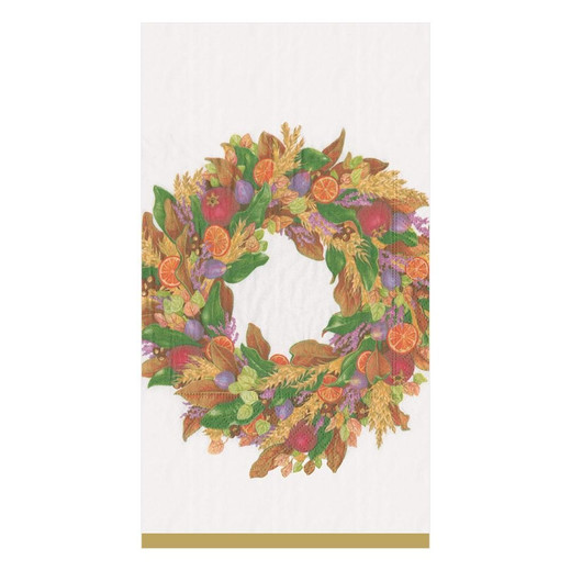Wreath Fall Décor Paper Hand Towels Pk 30