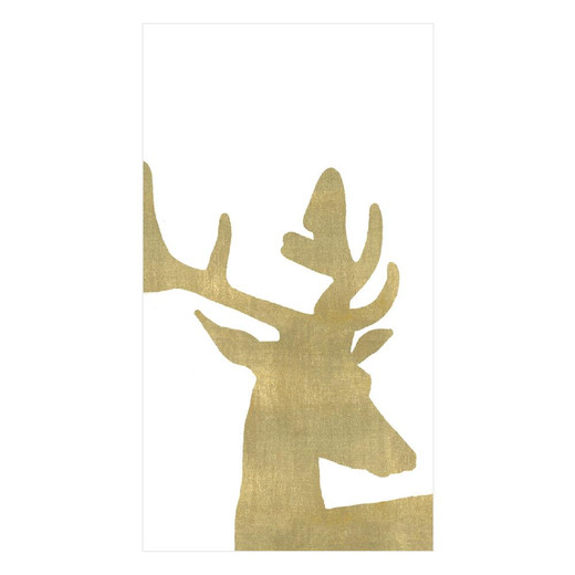 Alpine Stag Christmas Hand Towels PK 24