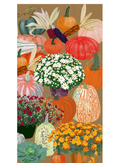 Pumpkin Decor Paper Hand Towels  Pak 32