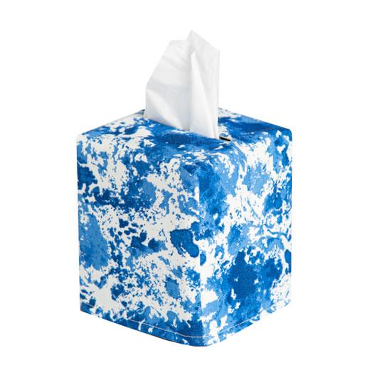 Tissue Box Cover Tissue Holder Square Cube Decorative Beach Bathroom Decor Bathroom Accessories Blue Sea Themed