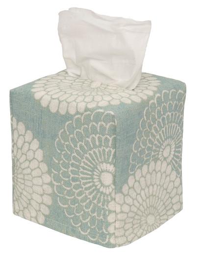 Tissue Box Cover Tissue Holder Decorative Bathroom Decor Blue Bathroom Accessories, Square Cube