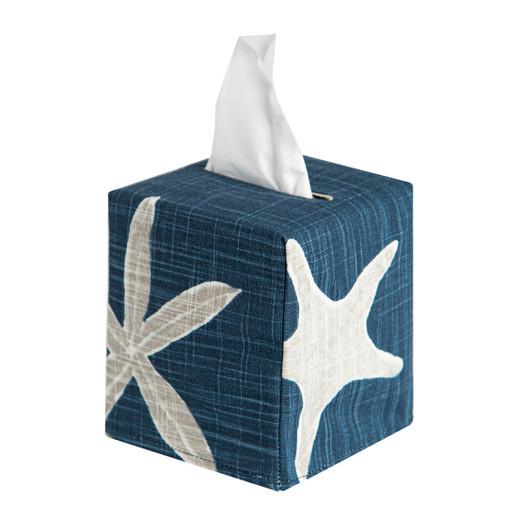 Tissue Box Cover Tissue Holder Square Cube Decorative Beach Theme Bathroom Accessories Seashell Decor