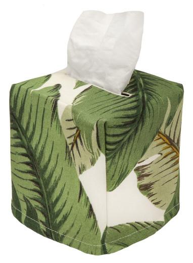 Tissue Box Cover, Tissue Holder, Beach Bathroom Decor Coastal Decor, Tommy Bahama Palms Beach Decor