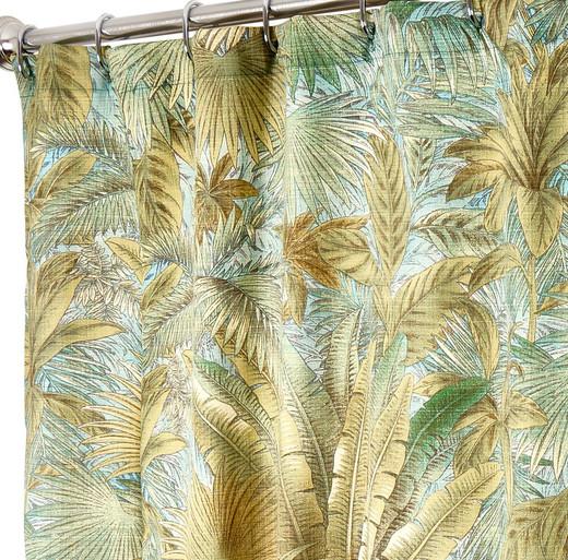 "72 Inch Long Fabric Shower Curtain Tommy Bahama Green Bahamian Breeze 72"" x 72"""