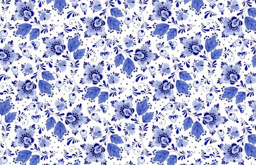 Blue Delft Paper Placemats Pak 24