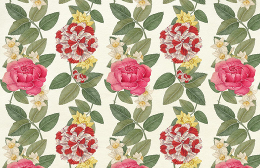 Rose Floral Paper Placemats Pak 24