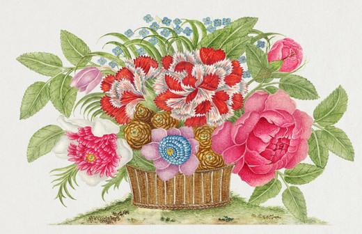 Rose Basket Paper Placemats Pak 24