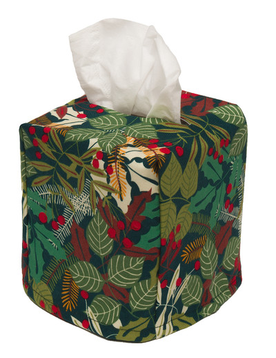 Cloth Tissue Box Cover Pine Berry