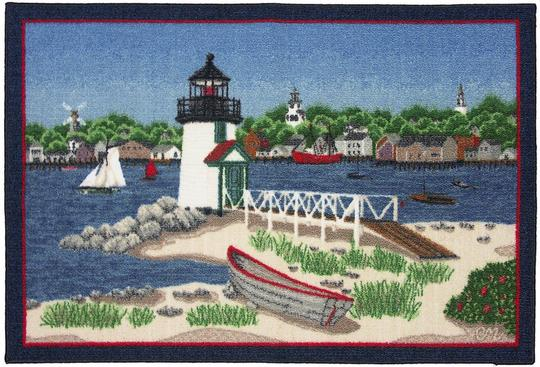 beach-kitchen-rugs lighthouse decor
