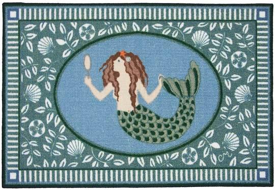 kitchen rugs Mermaid decor