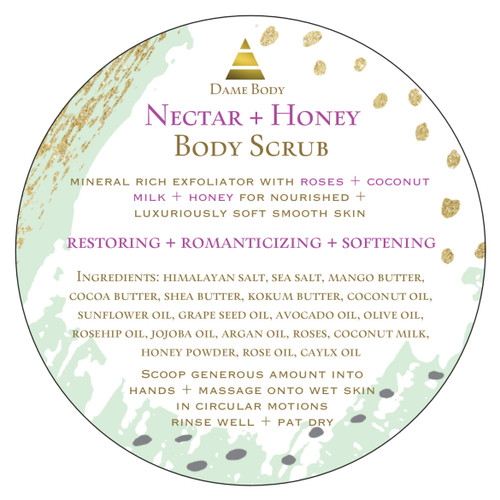 Rose Nectar + Honey Body Scrub