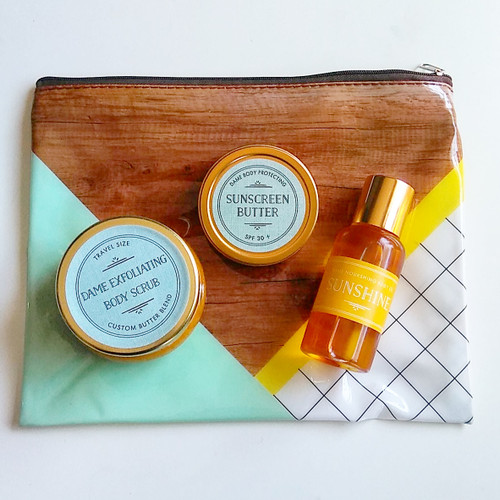 Travel Body Scrub + Body Oil Kit
