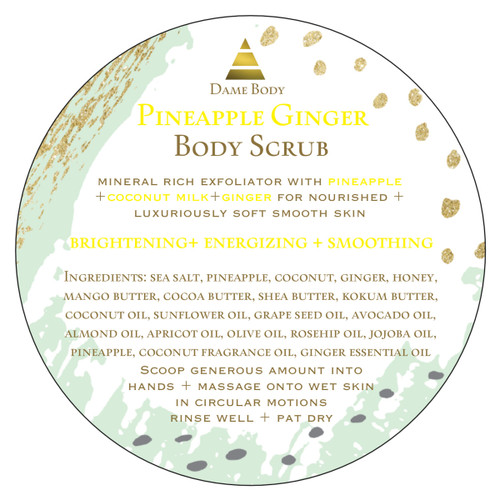 Pineapple + Ginger Body Scrub