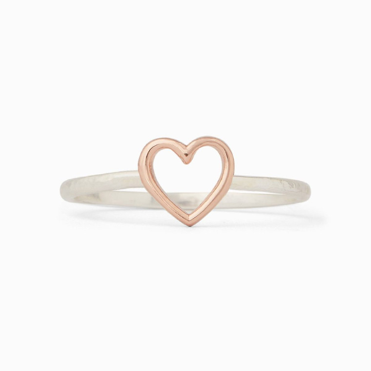 You + Pura Vida's Open Heart Ring = cutest couple *ever*. This dainty and delicate style features a cutout heart design, with a simple band that makes it perfect for stacking.