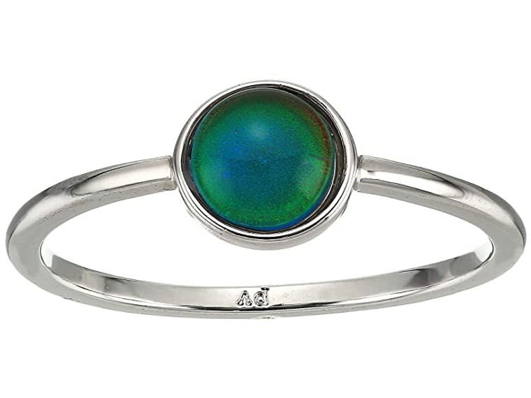 """Are you feeling chill and ready to relax or full of energy and ready for adventure? Find out your vibe while adding a stylish touch to your look with this Pura Vida mood ring. A simple silver band holds the delicate stone charm that changes colors based on your mood. The mood ring encourages the Pura Vida vibe, a philosophy to live life to the fullest. Pura Vida provides sustainable jobs to artisans worldwide who are dedicated to the """"pura vida"""" way of life.  Pura Vida silver ring features mood charm.  Color meanings Blue: Feelin' fine & on cloud nine;  Purple: Passionate & loving (aw, so sweet!);  Green: Super chill & ready to relax;  Amber: Next-level creative & totally dreamy;  Red: Full of energy & stoked for an adventure;  Black: Feelin' powerful & mysterious."""