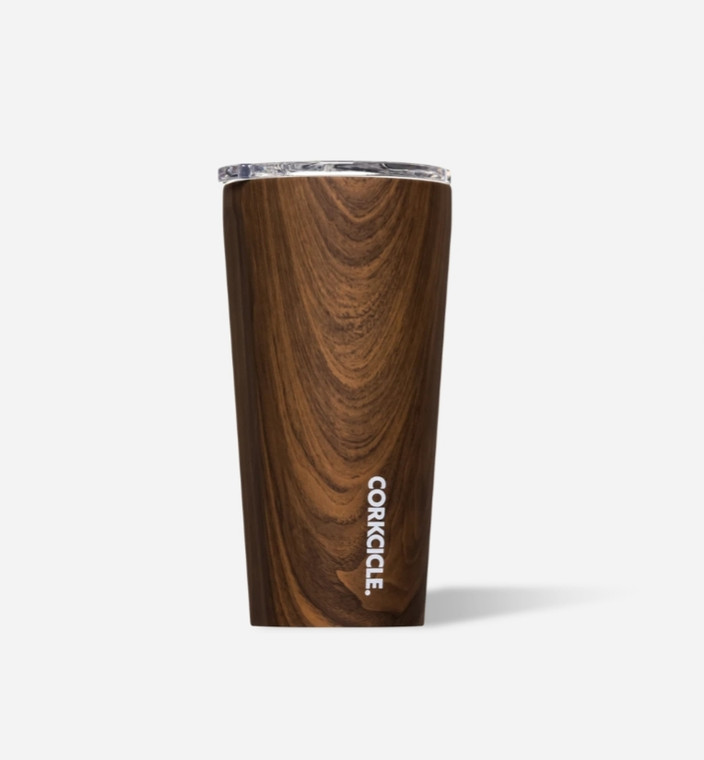 Inspired by nature, Walnut Wood features a warm, woodgrain pattern. Crafted from stainless steel with proprietary triple insulation, this vacuum-sealed wonder cup just doesn't quit. It keeps your beverages cold for 9+ hours and hot for 3. Stays cold even longer with drinks containing ice — even out in the sun. Slip-proof silicone bottom, easy-grip sides, sliding & spill resistant lid, 16 oz.