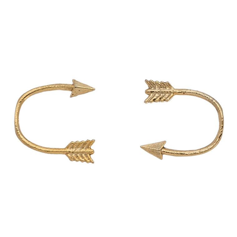 Nickel Free Gold Arrow Stud Earrings