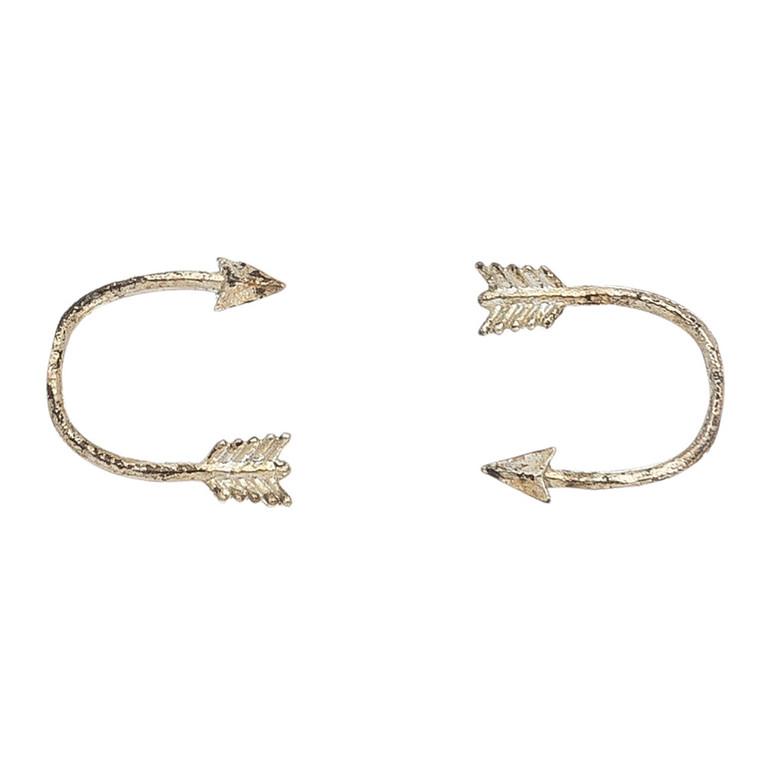 Nickel Free Silver Arrow Stud Earrings