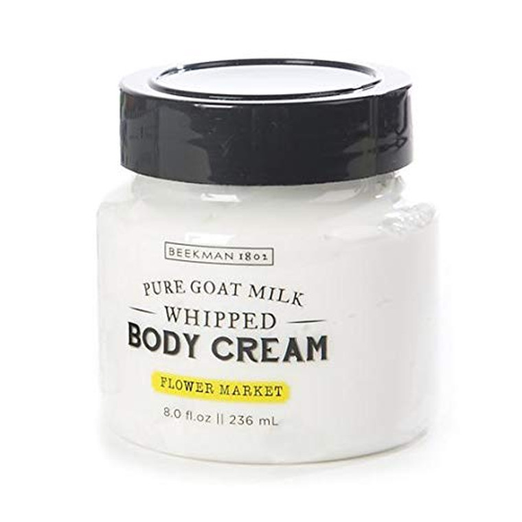 The perfect companion for the bathroom or guest room, our Flower Market Whipped Body Cream is a collaboration with our friends and Upstate New York neighbors at Beekman 1802. It gently moisturizes and leaves the beautiful aroma of florals, with the deep moisturizing effects of goat milk. The fragrance is aromatic, with notes of rose hips, jasmine, lavender, and green citrus. This rich floral scent was inspired by the gardens on the Beekman 1802 and MacKenzie-Childs farms.