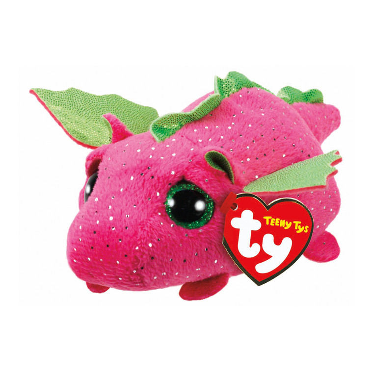 Brightly coloured in pink, Darby the Dragon Teeny Ty is part of Ty's hugely popular Teeny Ty range. With glittery scales and green wings, Darby is a friendly dragon with big round eyes who loves to travel with you on all of your adventures.
