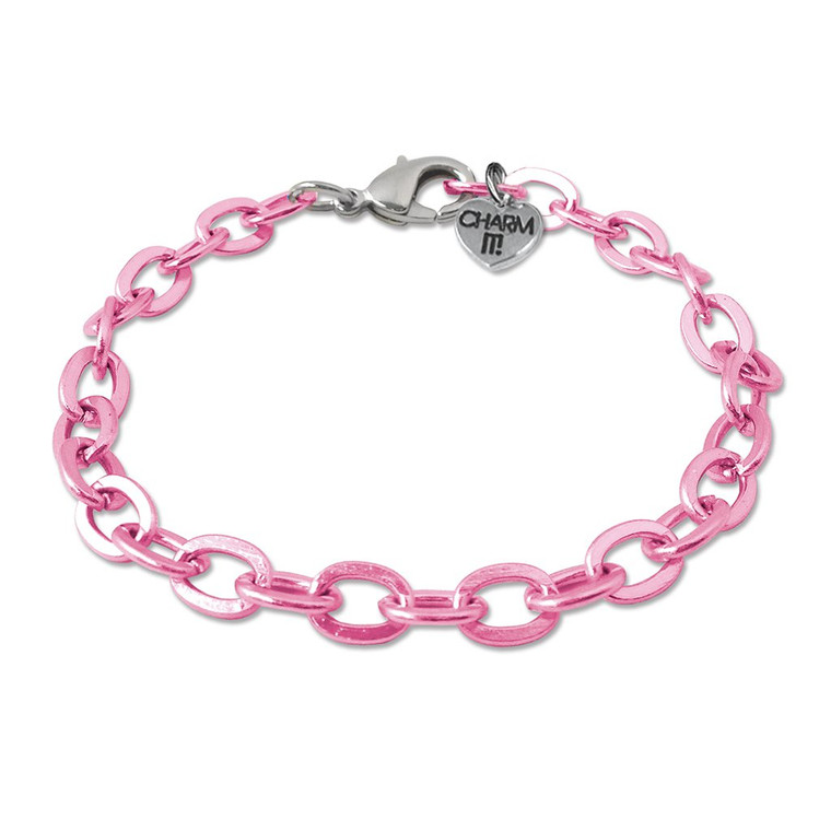Pink Charm Bracelet  - one size fits all