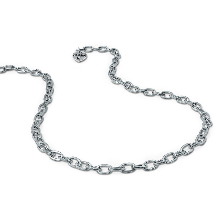 Silver chain necklace for charms  -one size fits all
