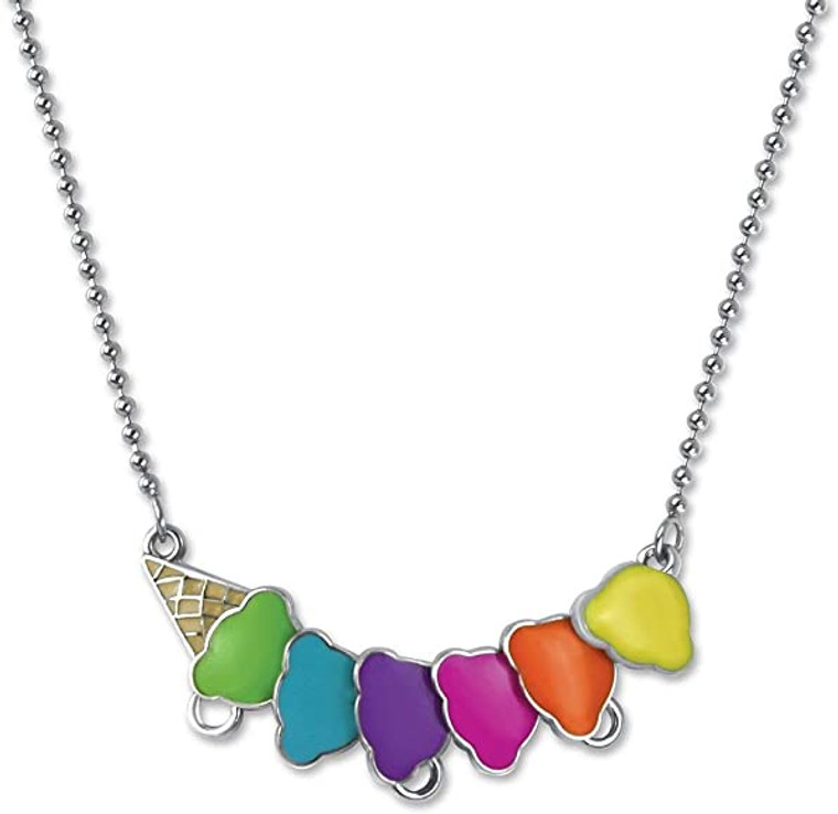 Ice cream cone necklace for charms  -one size fits all