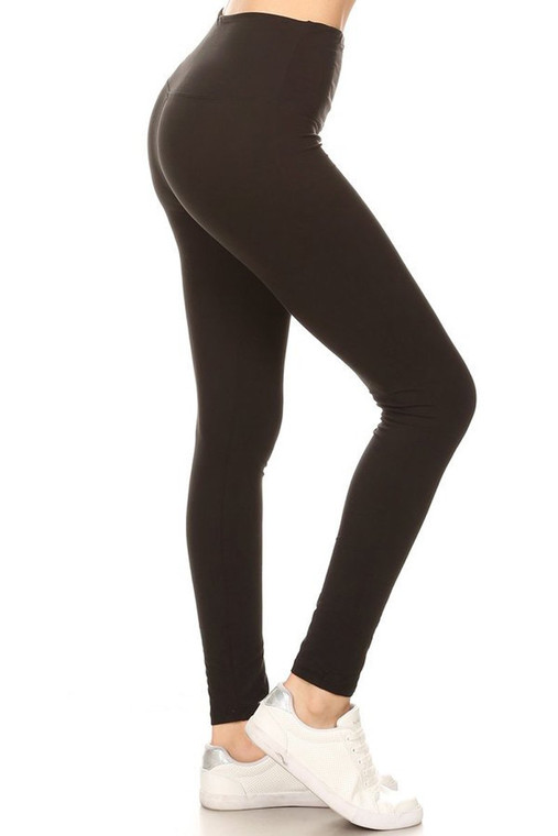 Buttery Soft black, yoga/high waist, full length legging. Seriously the most comfy leggings ever.  One size fits most (size 0-14 comfortably without see-through)