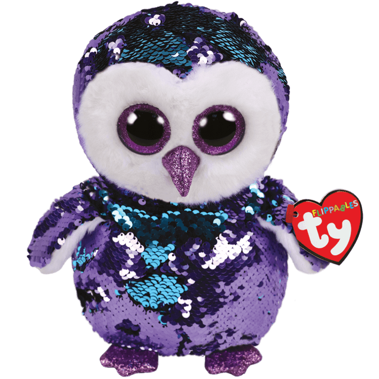 This cheerful owl is here to see what she can do to make your night magic! Moonlight comes in an exciting new Flippable. Perfect for fans of Moonlight or those whooo never met an owl they didn't like, her sequins sparkle like the night sky!  BIRTHDAY:  June 5  POEM:  Because I'm so pretty I live high in a tree So no one will ever Be able to catch me!