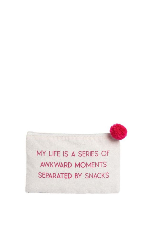 A good sense of humor combines with keeping your essentials organized.  9'' W x 6'' H x 0.25'' D