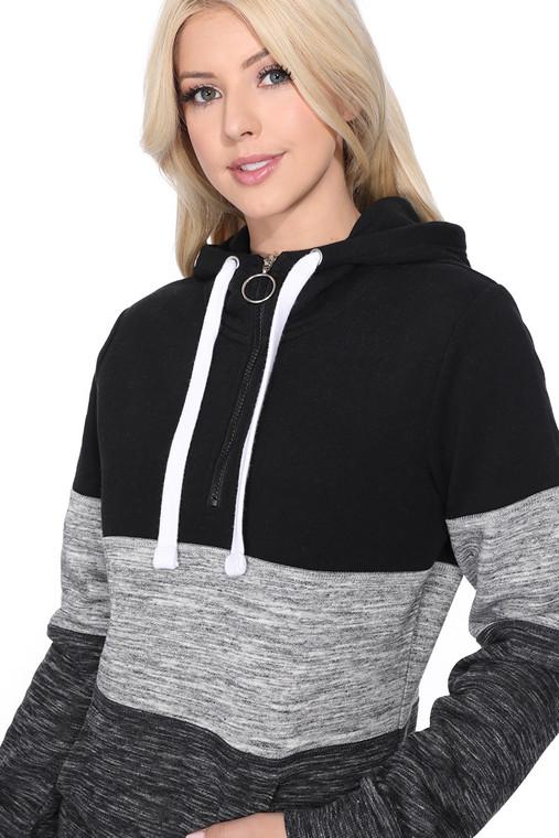 COLOR BLOCKED BRUSHED FLEECE PULLOVER HOODIE  * Cozy Brushed Fleece * Adjustable Drawstring Hood * Long Sleeve Banded Cuff & Hem * Kangaroo pockets * Pre-Washed for a no-shrink true fit.