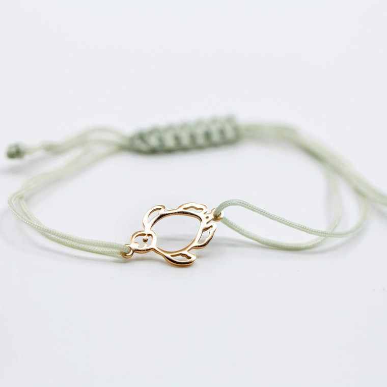 Shelly Cove Logo Bracelet:   Stainless Steel Charm Adjustable Rope Band, one size fits all!