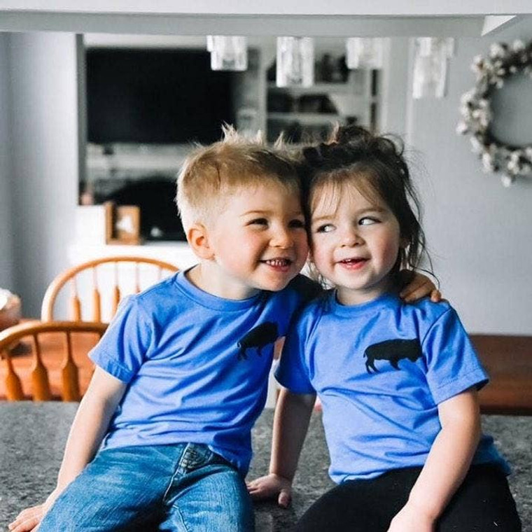 Your favorite Buffalo Tee fot for the littles in your life. These kiddo-sized tees are unisex and oh-so-soft.