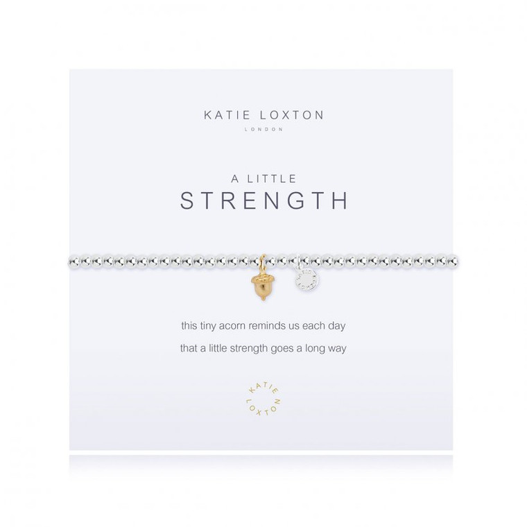 This tiny acorn reminds us each day that a little strength goes a long way.  Silver Stretch Bracelet.
