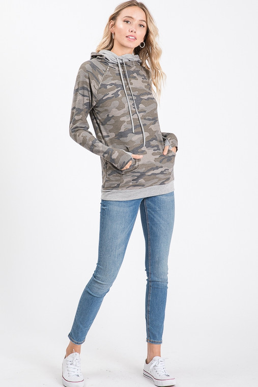 A Camo Hoodie you can wear anywhere! A great lightweight material that isn't clingy, nor is it is smothering on summer nights. All around perfection!