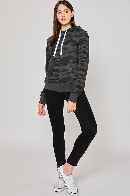 Where are my camo lovers at? This is a Need in your closet if you have an obsession with camo. An understated black and grey pattern is just what your wardrobe needs. No matter what you are wearing, this hoodie will compliment it well. Perfect for summer nights around the bonfire as well as a winter day on the slopes. This hoodie is the perfect weight to keep you cozy in any season.