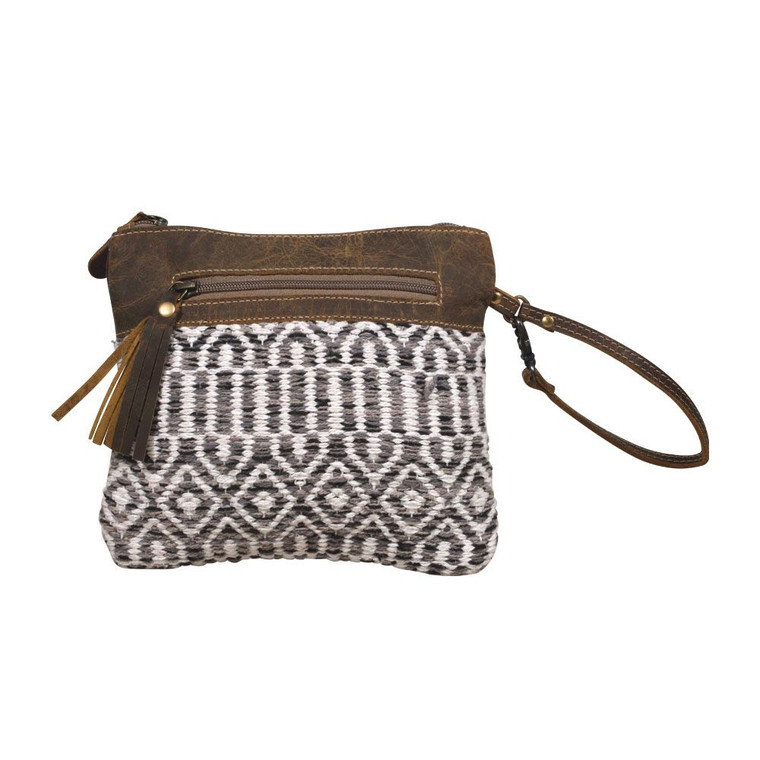 A high-class, canvas made for your accessories; Paradigm pouch comes with divine rugged design and leather straps. It's made from an old military tent on the backside and has a leather detailed front side.  Made of upcycled canvas and leather.