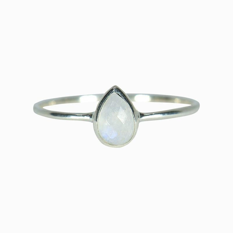 This pretty new piece has everything you could want in a ring: It's simple, stackable and super chic, with a genuine moonstone in a cool teardrop shape. Moonstone is a feminine crystal that helps sharpen your intuition and lets you go with the flow so you're up for any adventure. Oh, and because each stone is unique, no two rings look alike!
