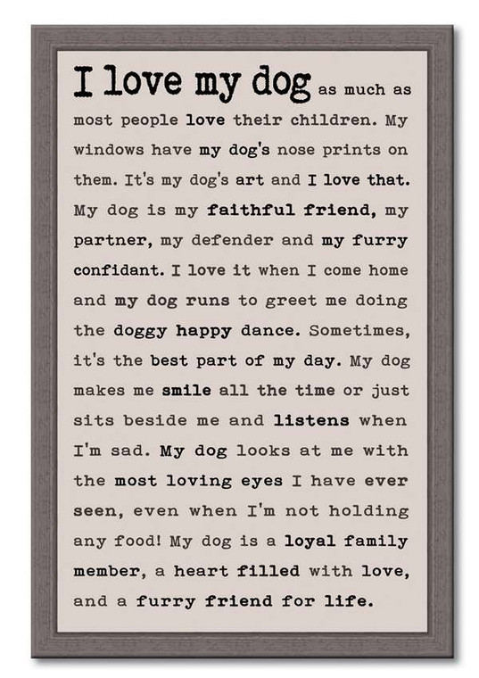 """The perfect something for the dog lover in your world. This wooden sign makes a great addition to any home. 12"""" x 18"""" Made in the USA"""