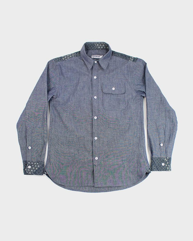 Long Sleeve Button-Up, Katazome